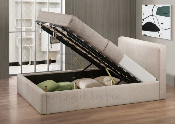 Birlea Brooklyn Ottoman Fabric Bed Wheat